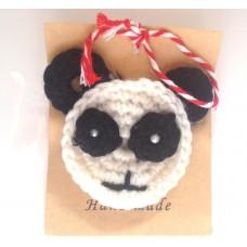 (ABM05)-Martisor Brosa Panda mohair