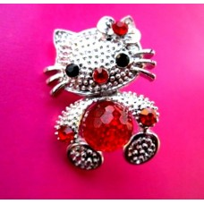 (ABGS25) Brosa Hello Kitty Red - set 3 bucati