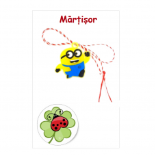 (APC19-AT08) Martisor Minion pe cartonas