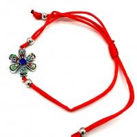CB17 - Bratara  Floare colorata + Plic cadou