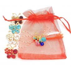 (ABGS20-AY07) Martisor brosa Colors in saculet