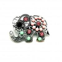 ABSM02 - Brosa Elefantel cu pietre colorate - set 5 bucati