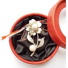 (ABSL05-ACGL01) Martisor brosa eleganta cu perle 2
