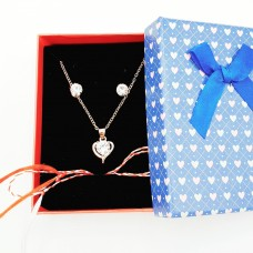 (SC05-ACGL22) Set bijuterii Inimioara