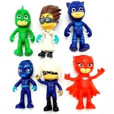 JCS02 - Eroi in pijamale - set 6 figurine