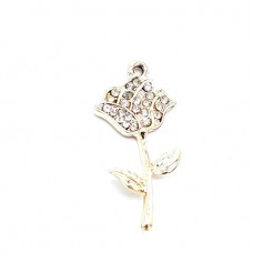 APG26 - Pandant trandafir auriu - set 5 bucati