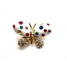 (ABGM05) Brosa Fluture Alb - set 3 bucati