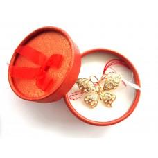 AMB11 - Martisor Brosa Fluture pietre colorate