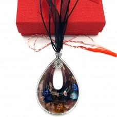 (MMC29) Martisor Colier sticla de Murano Glitter