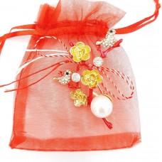 (ABGL16-AY07) Martisor brosa Flori de Cires in saculet