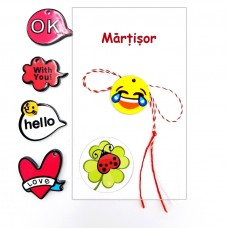 (APP06-AT08) Martisor pandant Smiley Face