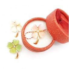 (ABGS33-ACGS01) Martisor brosa Floare Perlata in cutiuta