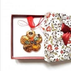 (MMC06-ACGL22) Martisor Colier sticla de Murano Flower
