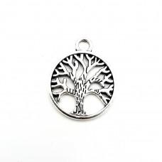 APS12 - Pandant Copacul Vietii din argint tibetan-set 5 buc