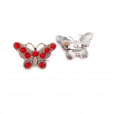 ABVS17 - Brosa Fluturas Red - set 5 bucati
