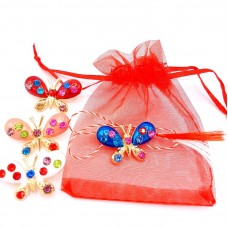 (ABGM11-AY07) Martisor brosa Joy Butterfly - in saculet