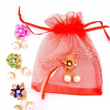 (ABGS18-AY07) Martisor brosa Joy Flower in saculet