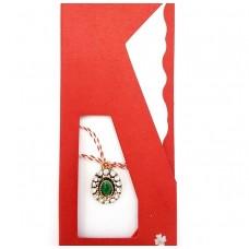 (APS31-ACA09) Martisor pandant Vintage Stone Green
