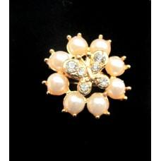 (ABGM08) Brosa Perle cu Fluturas - set 3 bucati