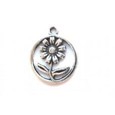 APS14 - Pandant Flower argint tibetan - set 5 bucati