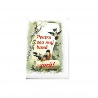 BC01.12-AY10 Martisor brosa Cea mai buna Sora + Plic cadou