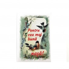 BC01.8-AY10 Martisor brosa Cea mai buna Nasa + Plic cadou