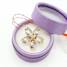 (ABGS43-ACGS03) Martisor brosa Floare din cristale-in cutiuta